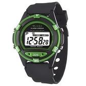 捷卡 JAGA 防水多功能 運動錶 電子錶 藍色夜光 學生錶/兒童手錶/男錶 M267-AF 黑綠