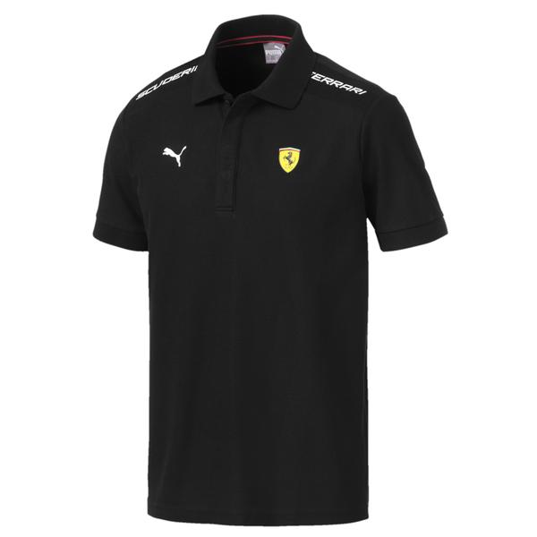 Puma Ferrari 黑 男款 短袖 上衣 法拉利 聯名 短袖Polo衫 短T 運動 休閒 運動上衣 59543502