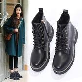 ins馬丁靴女新款短筒平底加絨冬季女鞋瘦瘦靴百搭網紅短靴子