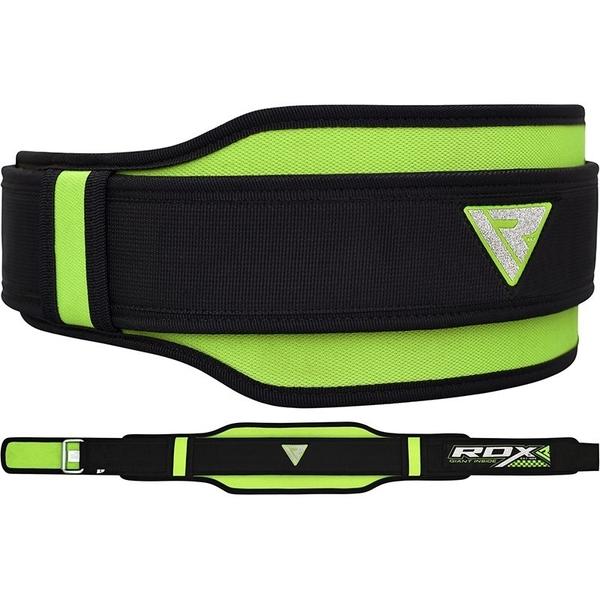 RDX058【線上體育】RDX NEO PRENE DOUBLE 舉重腰帶 綠色