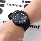 CASIO卡西歐 藍紫外框地圖造型雙顯錶 多功能電子數位 柒彩年代【NEC130】