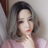 短假髮 假髮女短髮bobo頭韓國中分齊肩短捲髮自然蓬鬆網紅圓臉梨花假髮套
