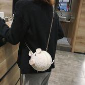 上新毛絨絨可愛搞怪小包包ins新款單肩包少女超萌學院斜背包 探索先鋒
