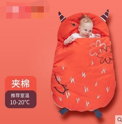 秋冬季新生兒防驚跳純棉睡袋
