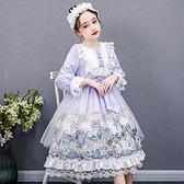 童裝春裝女童蘿莉塔洋裝兒童洛麗塔愛莎公主裙小女孩lolita洋氣 幸福第一站
