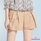 【SHOWCASE】俏麗活褶雙綁帶短褲裙(卡)