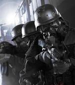 戶外軍迷M04防毒防霧面罩 CS戰術全臉防護面具帶鏡片