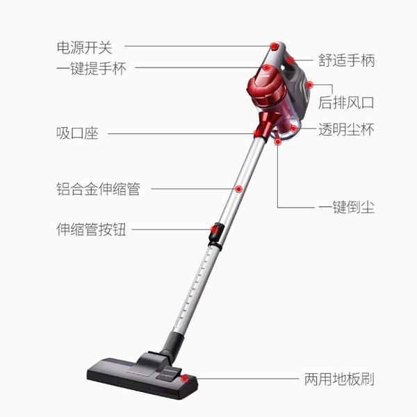 吸塵器家用手持地毯式靜音除蟲小型迷你大功率強力吸塵器