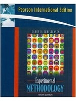 二手書博民逛書店 《Experimental Methodologyinternational E》 R2Y ISBN:0205504671│LarryB.Christensen