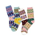 繽紛圖樣流行穿搭造型襪(1雙入)  【小三美日】顏色/款式隨機出貨