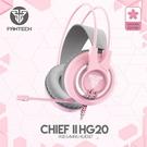 粉色新上市 FANTECH HG20 白光立體聲電競耳機-櫻花粉 電競耳機麥克風 耳罩式耳機