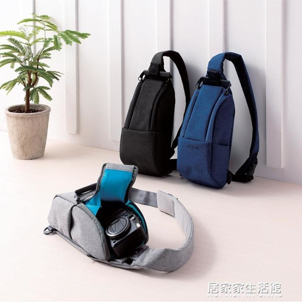 ELECOM日本單肩斜挎微單攝影包多功能休閑運動小胸包switch收納包 居家家生活館