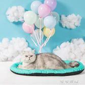 貓窩四季通用不粘毛貓咪墊子貓床夏季睡覺寵物睡墊夏天涼席用品   可可鞋櫃