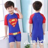 兒童泳衣 男童連體平角泳衣可愛卡通小孩泳裝廠家直銷4-11歲批發