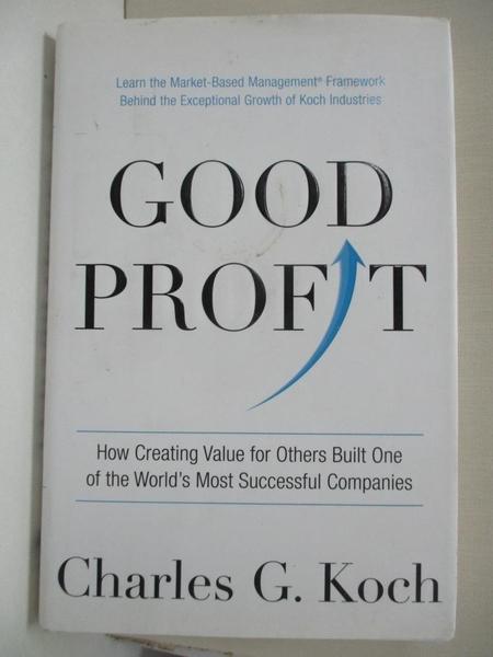 【書寶二手書T1/大學商學_DQY】Good Profit: How Creating Value for Others Built…
