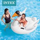 INTEX 57557 小天鵝造型加厚浮床兒童水上充氣玩具成人大號浮排躺椅(附修補片)