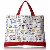 CR14218【日本進口正版】史努比 Snoopy 學院篇 手提袋 手提包 肩背包 PEANUTS - 142182