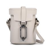 Botkier Brooklyn滑面皮革小型斜背水桶包(米灰色)260014-1