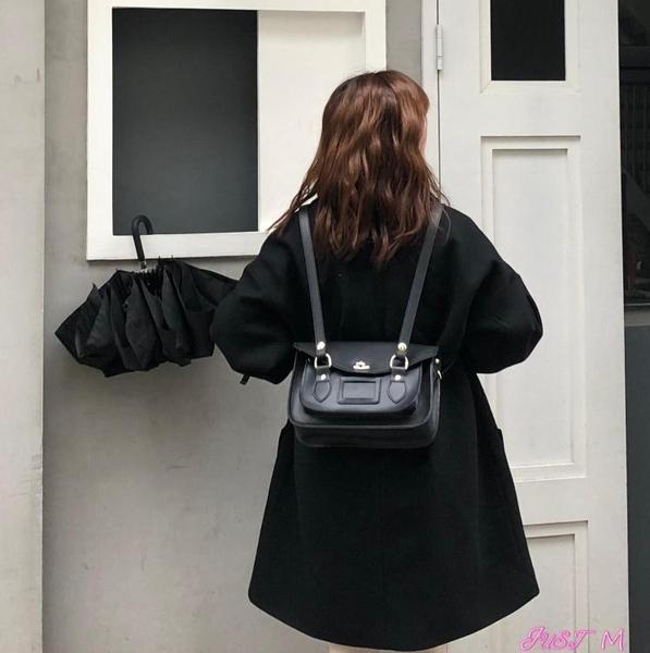 郵差包新款韓版學院風劍橋包雙肩郵差包復古英倫風側背斜背小方包女 JUST M