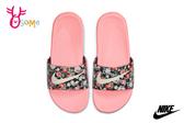NIKE KAWA SLIDE VF (GS/PS) 拖鞋 大童 成人女款 內裡柔軟 紓壓 運動拖鞋 P7126#黑橘◆OSOME奧森鞋業