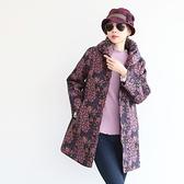 正韓 印花大領绗縫刷毛裡大衣 (BGSI) 預購