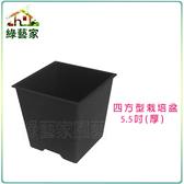 【綠藝家】四方型栽培盆5.5吋-黑色(厚)