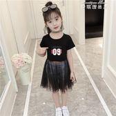 女童連身裙兒童裝洋氣夏裝中大童夏季時髦韓版網紗裙子潮 麥琪精品屋