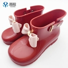 雨靴 雨程兒童雨鞋女寶寶水鞋可愛復古短筒幼兒園女孩子水鞋防滑雨靴 宜品