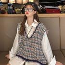 夏季2019新款小香風時尚V領寬鬆百搭時尚氣質流蘇無袖背心女學生