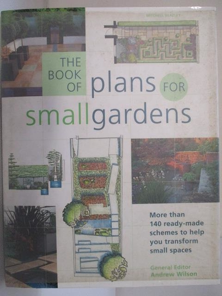 【書寶二手書T1/設計_DM7】The Book of Plans for Smallgardens