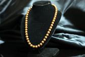 °☆╮喨喨飾品╭☆° 貝珍珠項鍊  / 金茶色 / 嬌柔典雅 ,溫潤動人 ,高雅大方 展現女人味 。A103