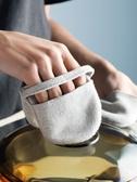 指尖棉麻隔熱手套烘焙防燙小巧鍋耳套微波爐烤箱廚房五指 凱斯盾