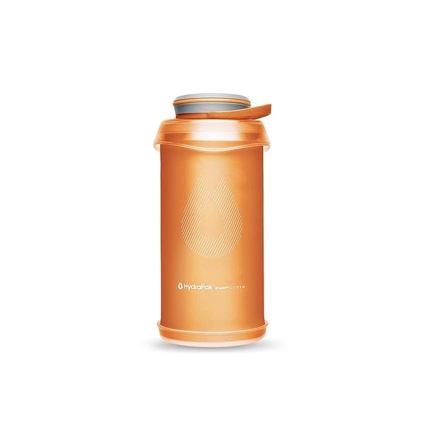 HydraPak Stash Bottle 可擠壓式圓盤軟式水壺 1L 沙漠橙