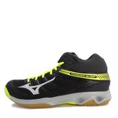 Mizuno Thunder Blade [V1GA187503] 男鞋 運動 羽球 排球 透氣 耐磨 止滑 中筒 黑