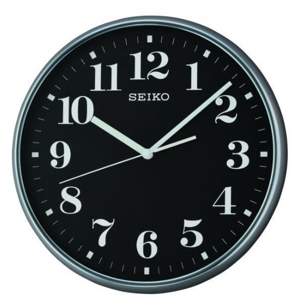 【時間光廊】SEIKO 日本精工 數字 滑動式秒針 掛鐘 時鐘(QXA697K)-黑/35cm