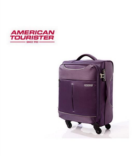 AT美國旅行者 Sky商務休閒可擴充布面 登機箱/旅行箱-20吋(紫/灰) 25R