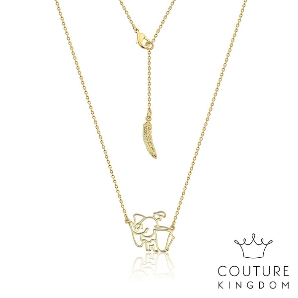 Couture Kingdom 迪士尼小飛象鏤空鍍14K金項鍊 Dumbo Necklace