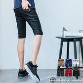 不退換短褲【T9129 】OBIYUAN 黑釦箭頭皮標工作短褲 不退換