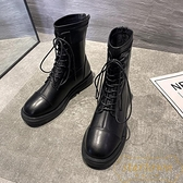 短靴女百搭單靴英倫風馬丁靴薄款透氣靴子秋冬季【繁星小鎮】