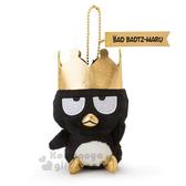 〔小禮堂〕酷企鵝 絨毛玩偶吊飾《黑.踢腳》娃娃.國王企鵝系列 4901610-05412
