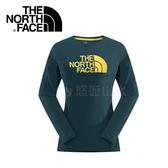 【The North Face 女款 Logo棉長T《深藍色》】364P40Q/吸濕排汗/機能性/長T