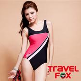【TRAVEL FOX夏之戀】運動風連身三角泳衣-C9711