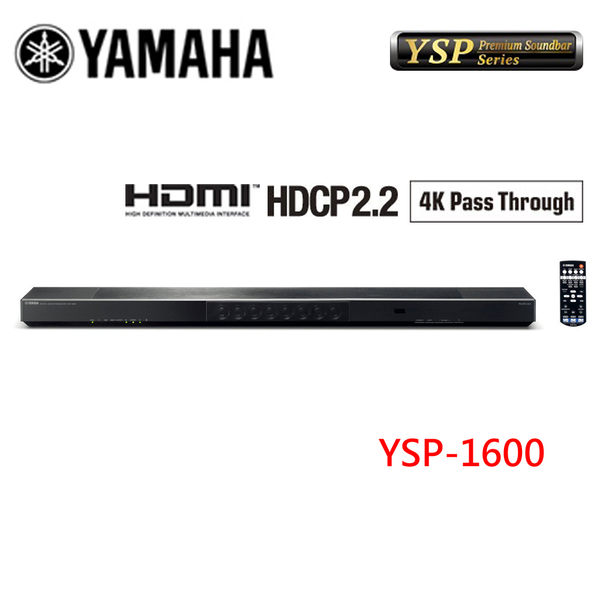 《送VIP級壁掛安裝》YAMAHA山葉 Soundbar WiFi / HDMI YSP系列家庭劇院 YSP-1600
