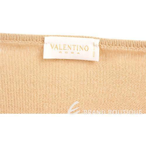 VALENTINO 駝色皮草飾邊二件式上衣 0640044-02