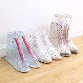 雨天透明雨鞋套加厚底防水耐磨防滑正韓卡通學生男女中筒防水鞋套 大降價!免運85折起!