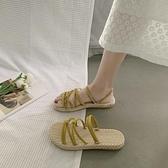 涼鞋女仙女風2021新款夏平底時尚百搭兩穿羅馬沙灘網紅涼拖ins潮