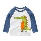 站立呆萌鱷魚圖案長袖上衣 童裝 長袖上衣
