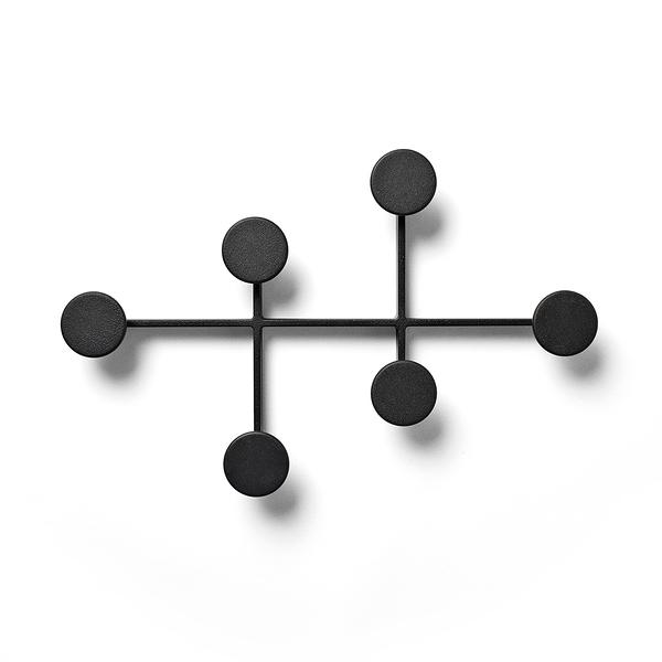 丹麥 Menu Afteroom Coat Hanger 圓點幾何系列 壁面 衣帽架 / 衣架(黑色款)