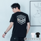 【OBIYUAN】短袖T恤 雷射 魔方 100% 精梳棉 衣服 上衣共2色【HJ0641】