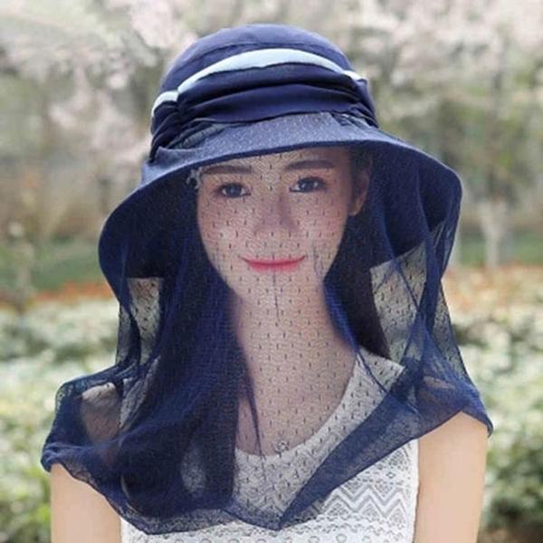 帽子女夏季大沿遮陽帽防曬帽太陽帽戶外出游防蚊防紫外線遮臉涼帽 美好生活